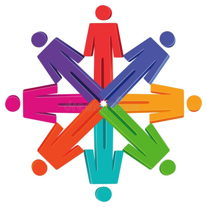 Mensencijfers in cirkel stock illustratie