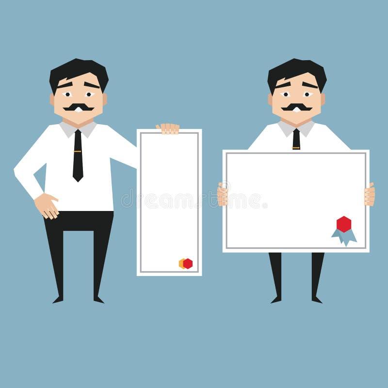 Download Mensenholding whiteboard vector illustratie. Illustratie bestaande uit mens - 54079628