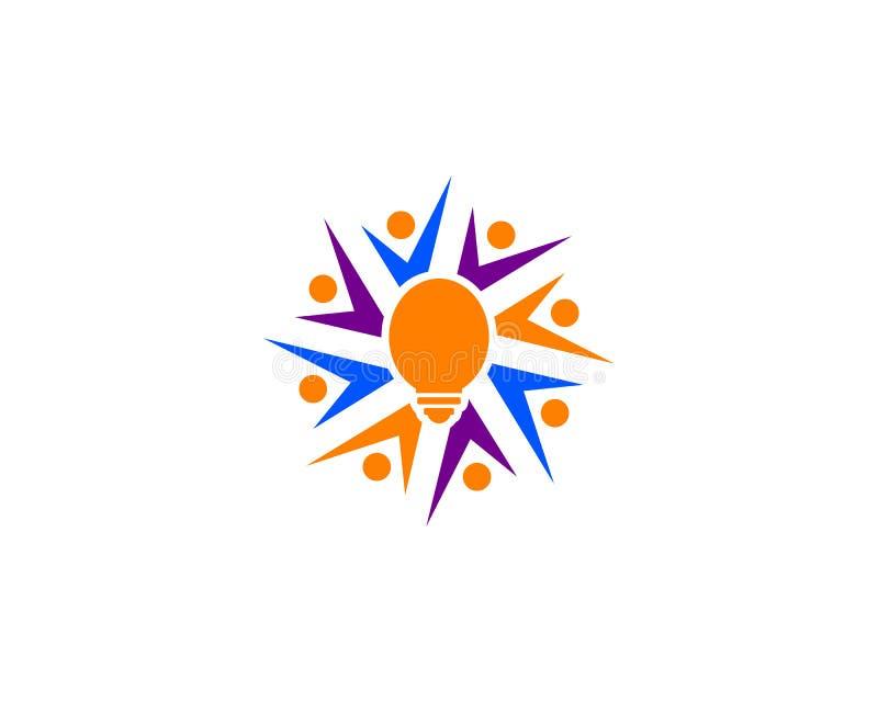 Mensenidee Logo Template stock illustratie