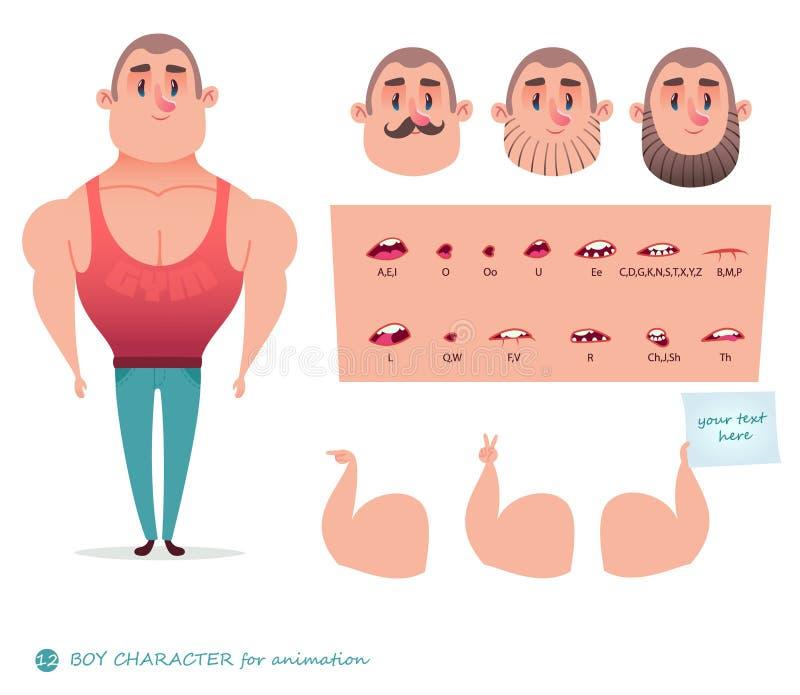 Mensenkarakter voor uw scènes stock illustratie