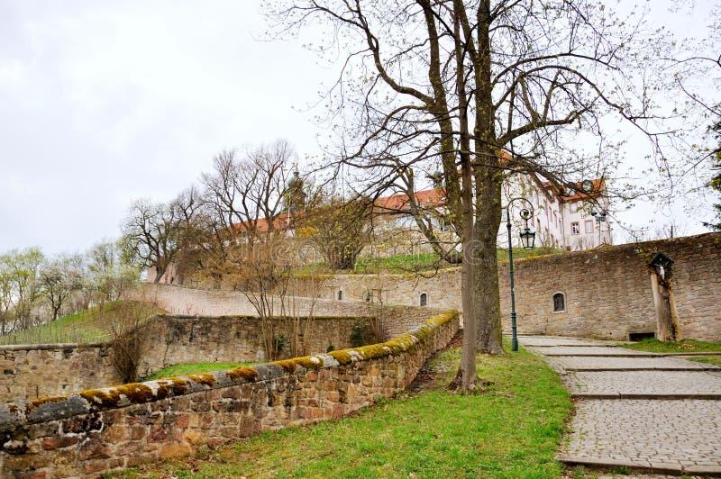 Mensenklooster op een Frauenberg in Fulda, Hessen, Duitsland royalty-vrije stock afbeelding