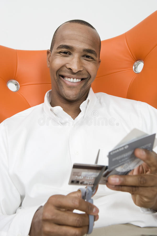 Mensenknipsel op Creditcards royalty-vrije stock foto's