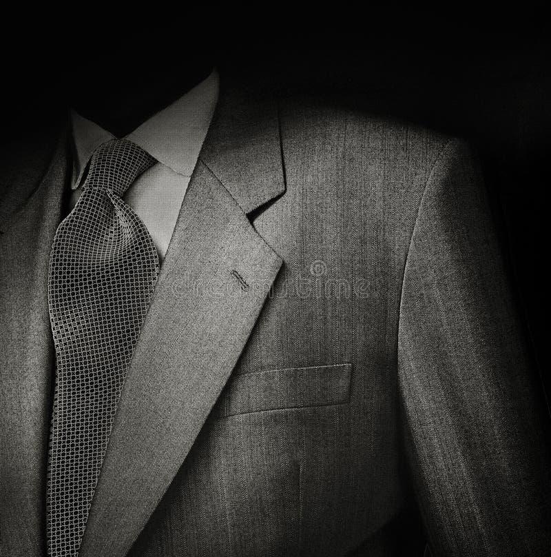 Mensenkostuum in zwarte royalty-vrije stock fotografie