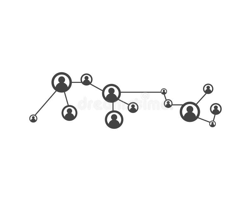 Mensennetwerk en sociaal pictogram vector illustratie