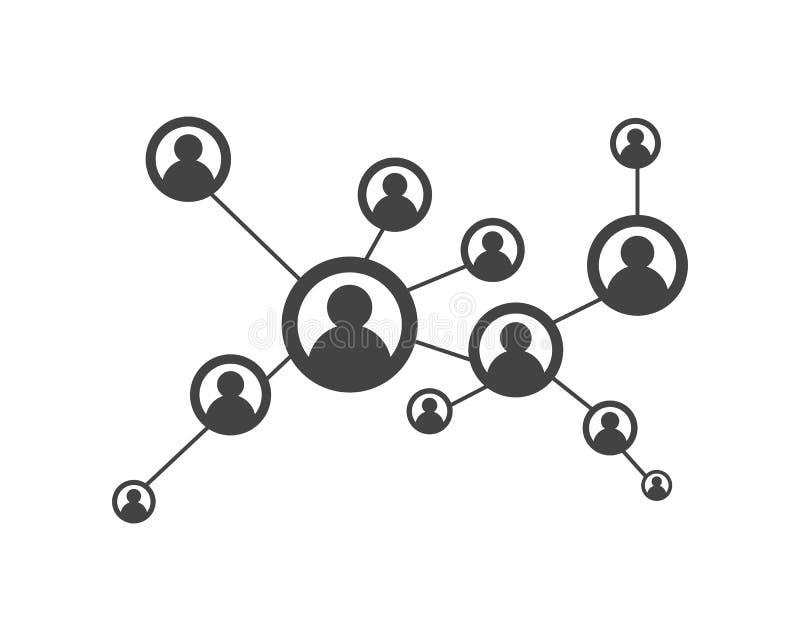 Mensennetwerk en sociaal pictogram stock illustratie