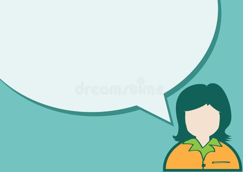 Mensenpictogram en volkeren die met Toespraakbel spreken vector illustratie