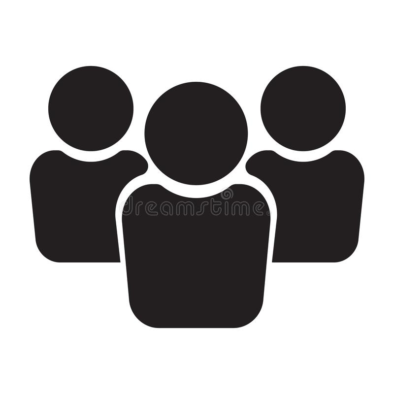 Mensenpictogram, groepspictogram, teampictogram vector illustratie