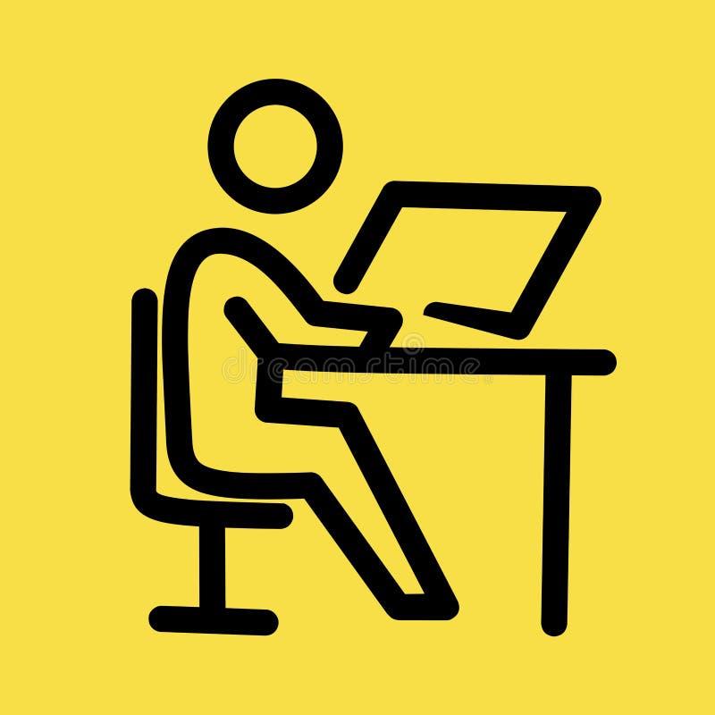 Mensenpictogram Mannelijk vlak de kunstvoorwerp van het Webteken avatar karakter royalty-vrije illustratie