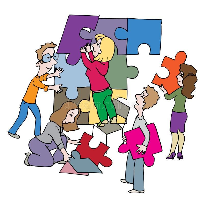 Mensensamenwerking vector illustratie