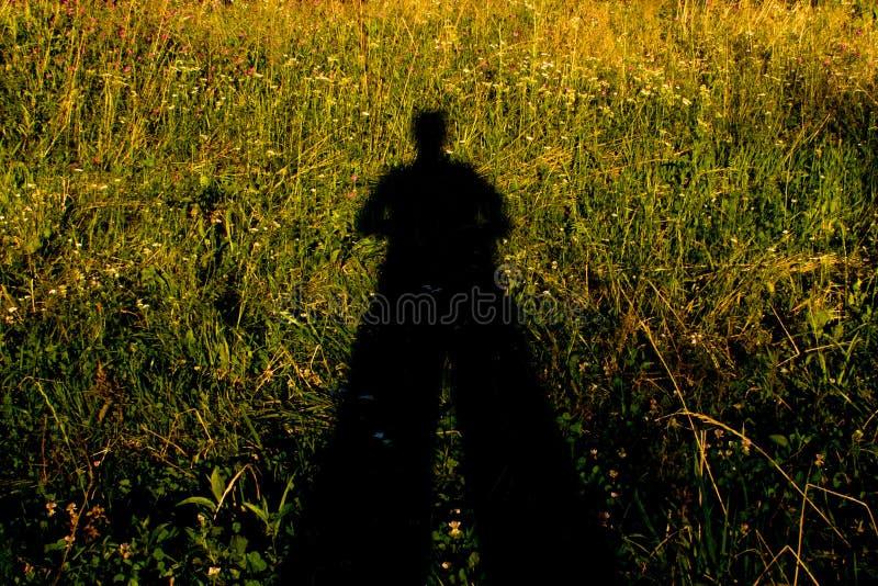Mensenschaduw stock fotografie