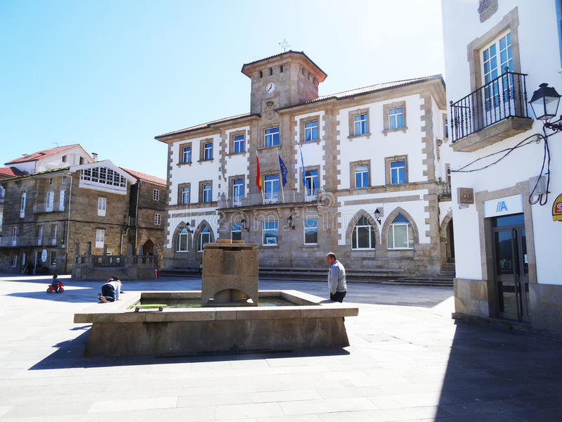 Mensenstadhuis - Muros - Spanje stock fotografie
