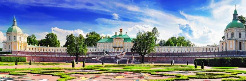 Menshikov宫殿在圣彼得堡,全景。 免版税库存照片