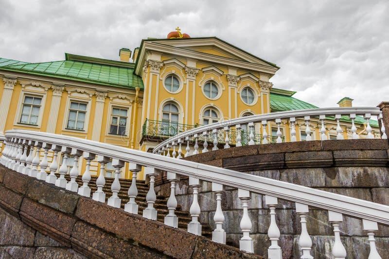 Menshikov Palace (Oranienbaum) in the town of Lomonosov. ST PETERSBURG, RUSSIA - JULY 29, 2015: Menshikov Palace (Oranienbaum) in the town of Lomonosov royalty free stock photos