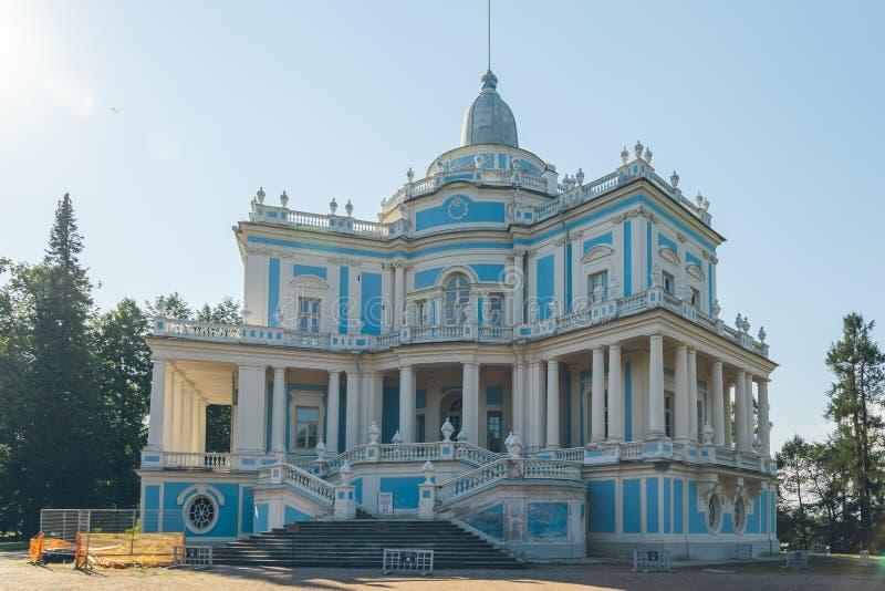 Menshikovpaleis in Lomonosov, een voorstad van St. Petersburg stock foto