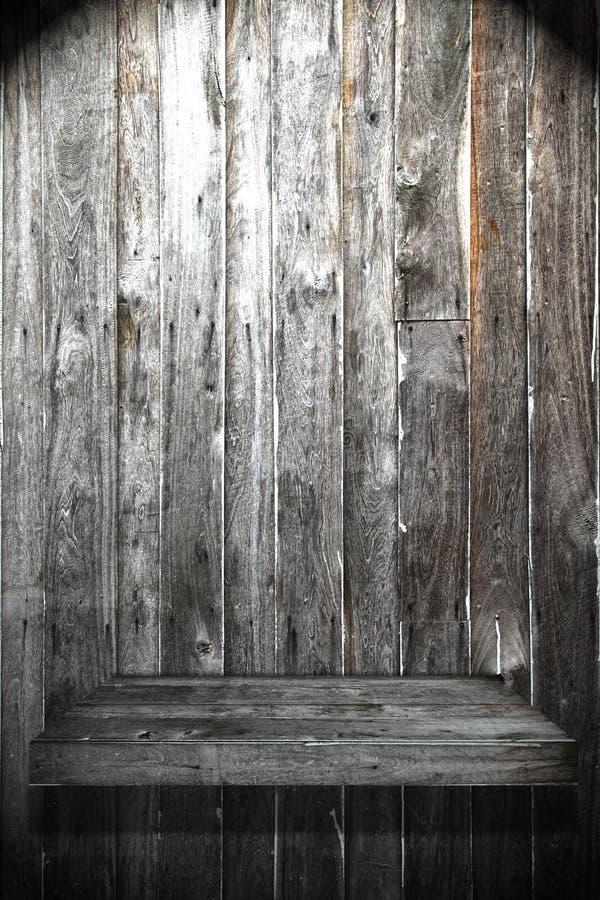 Mensola di legno fotografie stock libere da diritti