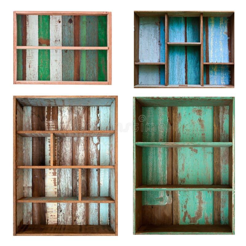 Mensola di legno dell'annata fotografia stock libera da diritti