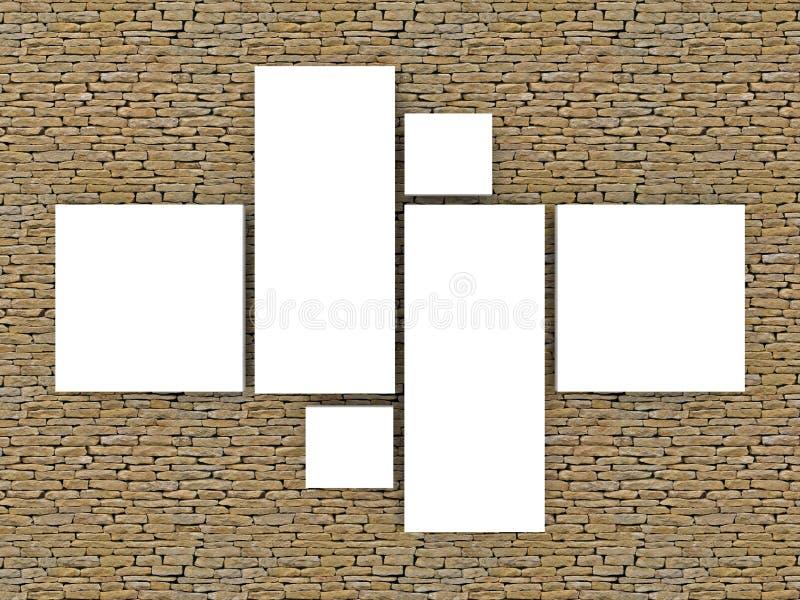 mensola di libro di legno 3d immagini stock