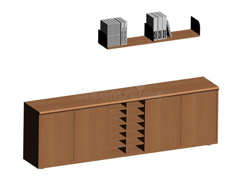 Mensola ed armadietto illustrazione vettoriale