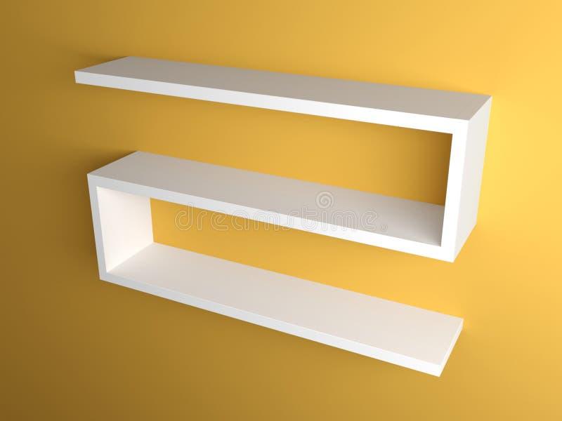 Mensola moderna immagine stock immagine di renda mobilia for Mobilia spazio