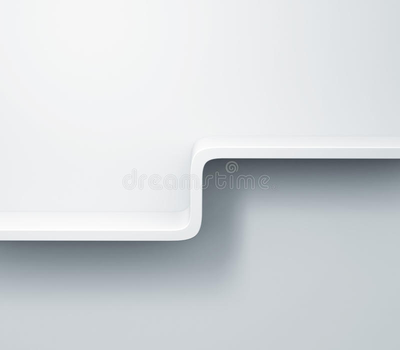 Download Mensole Bianche Sul Modello Della Parete 3d Illustrazione Di Stock    Illustrazione Di Estratto,