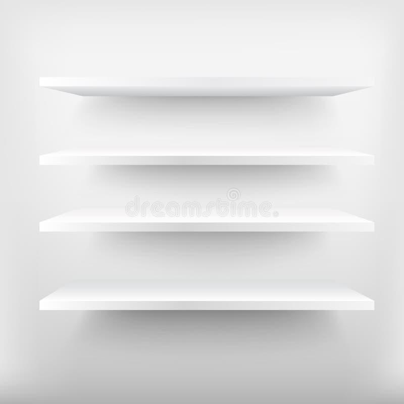 Download Mensole Bianche Vuote Illustrazione Di Stock. Illustrazione Di  Pulito   76391833