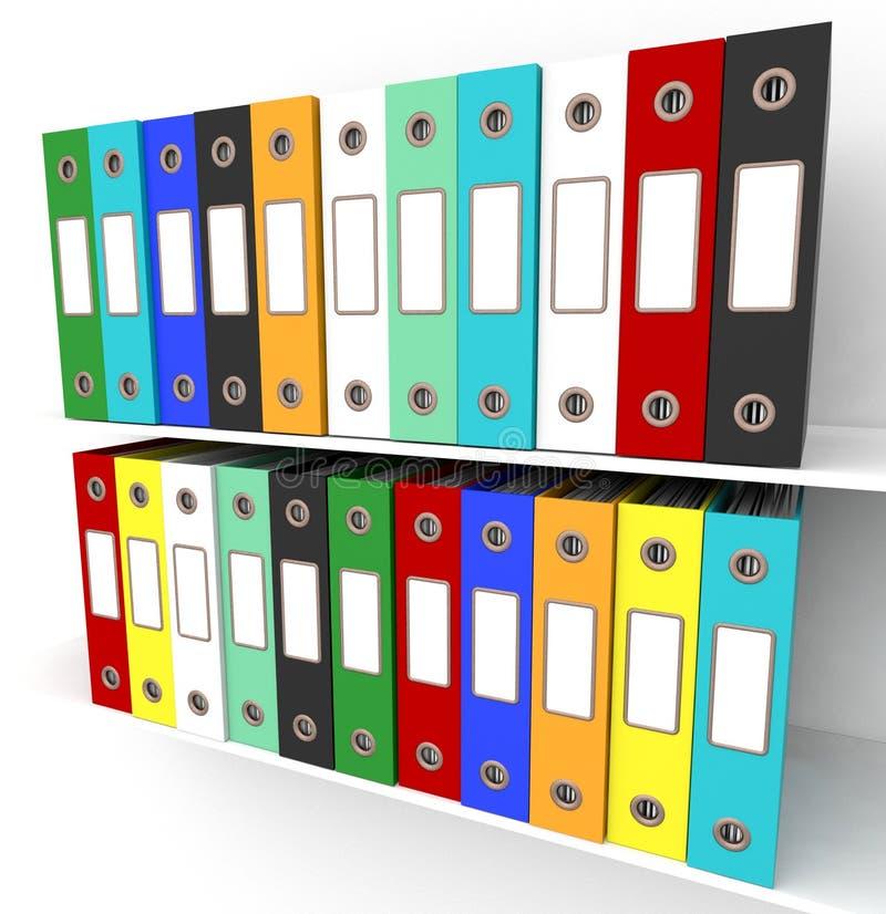 Mensole degli archivi per ottenere ufficio organizzato fotografia stock