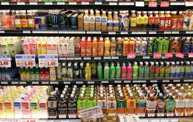 Mensole delle bevande fotografia stock