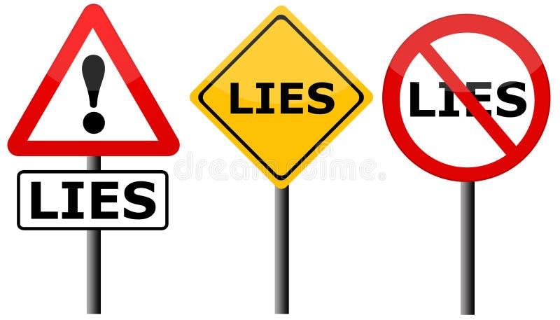 Mensonges illustration libre de droits