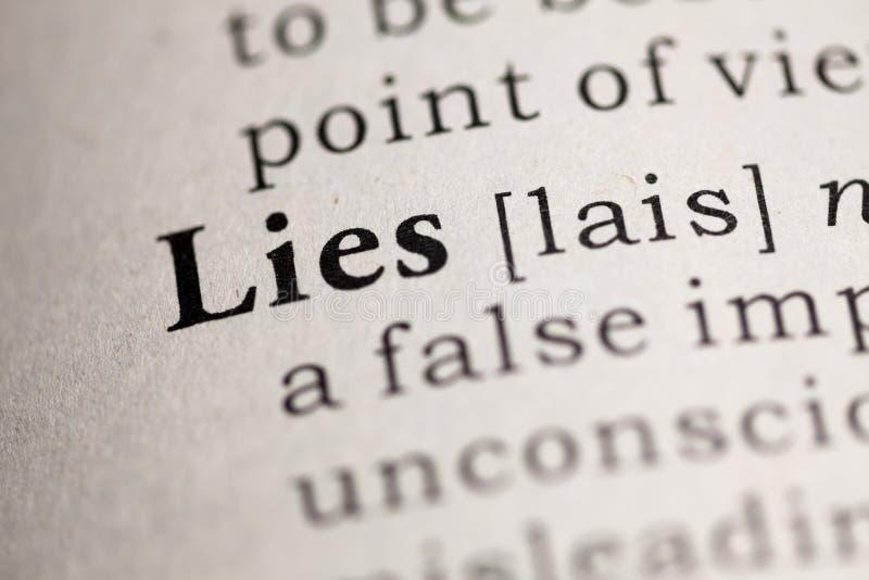 mensonges photo stock