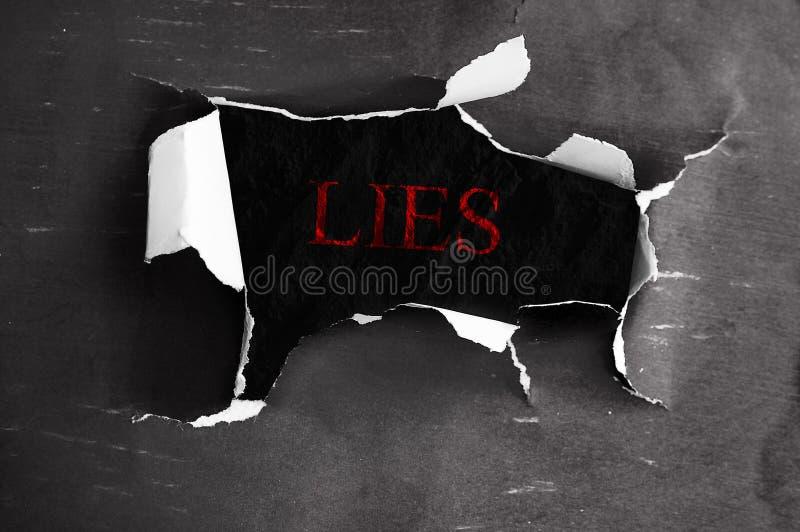 Mensonges indiqués images libres de droits