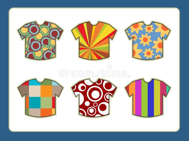 Menst-shirts mit flippigen Auslegungen stock abbildung