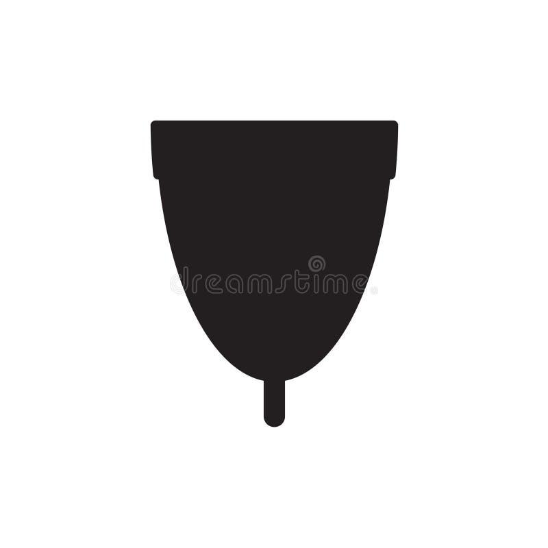 Menstrual cup icon. Vector illustration royalty free illustration