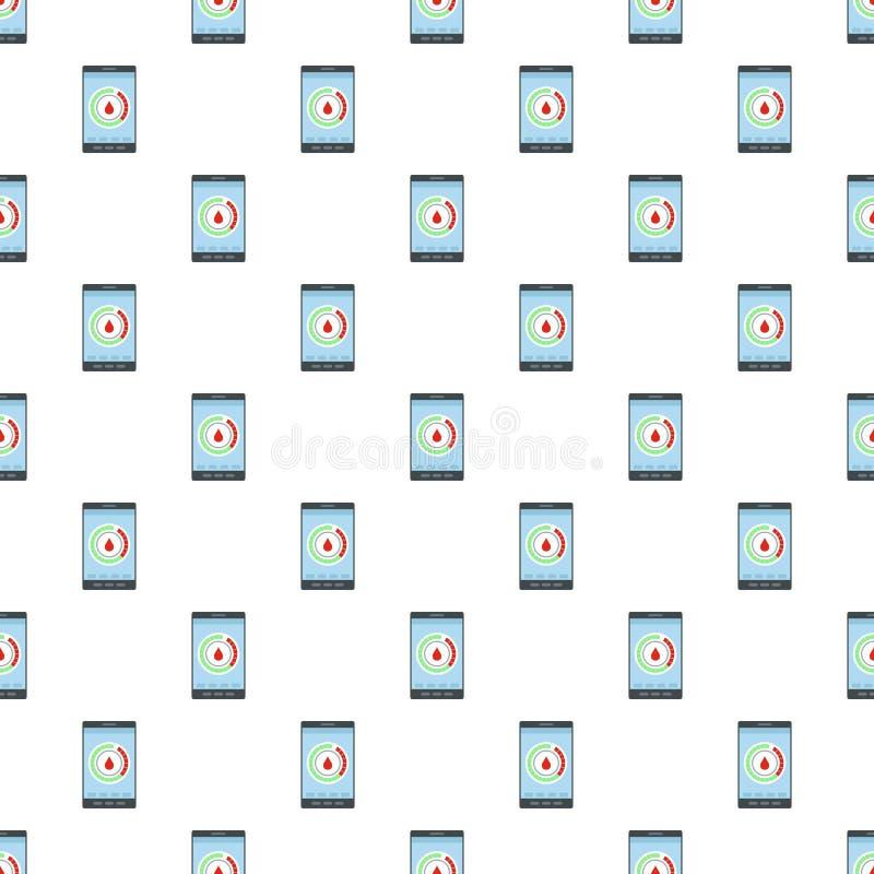 Menstrual mobile calendar pattern seamless vector. Repeat for any web design stock illustration