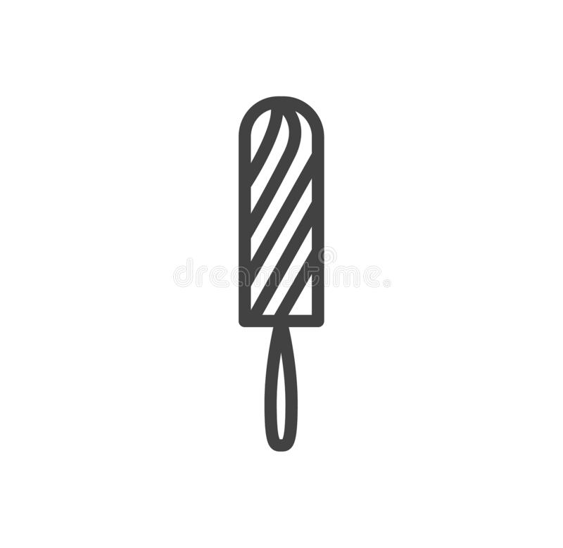 Menstruation and sanitary tampon. Vector flat outline icon illustration isolated on white background. stock illustration
