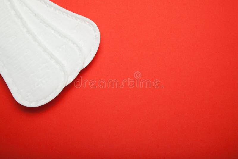 Menstrueel stootkussen met exemplaarruimte stock afbeelding