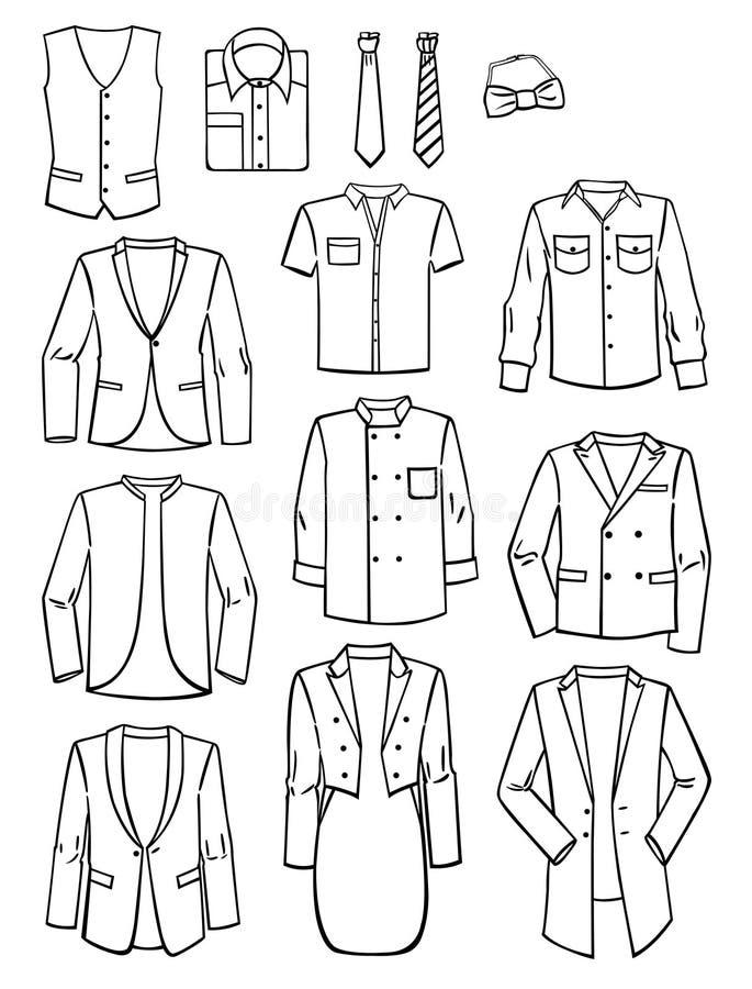 Menswear ilustração stock
