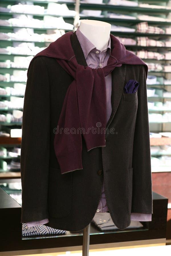 Menswear boutique stock foto