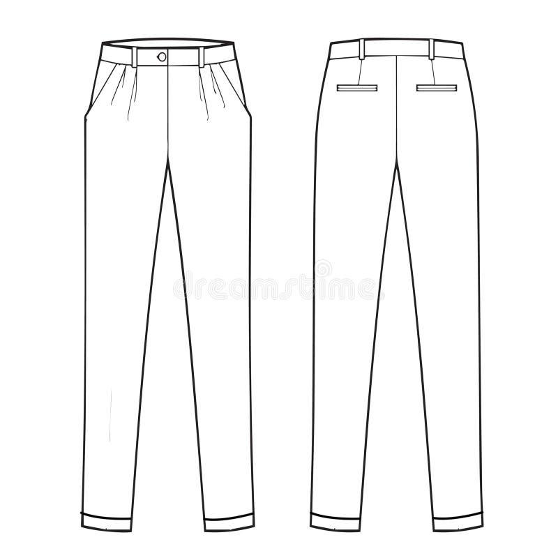 Menswear Classic Trouser Stock Illustration Illustration