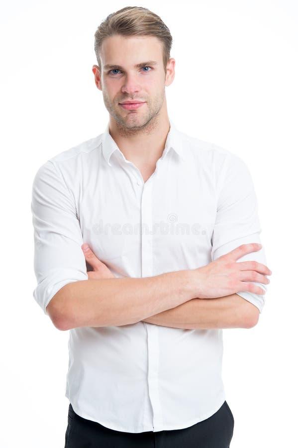 Menswear formalny styl Faceta przystojny urzędnik Pracujący formalny kod ubioru Klerykalny i środkowy łańcuszkowy zarządzanie obrazy stock