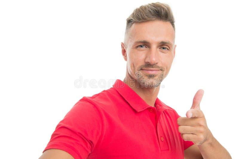 Menswear i modna odzież Mężczyzny spokoju twarz pozuje pewnie białego tło Mężczyzna patrzeje przystojnym w przypadkowej czerwieni obraz royalty free