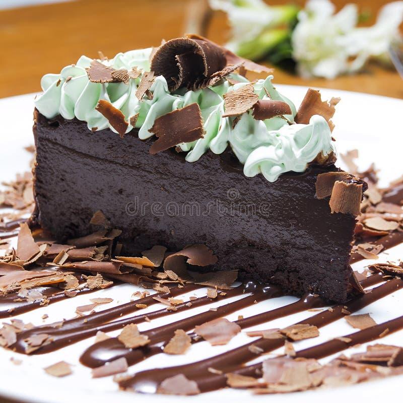 Menta com шоколада Bolo стоковые изображения rf