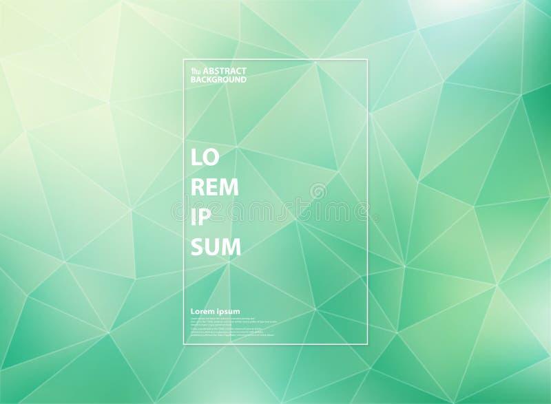 Menta moderna abstracta del verde de la pendiente de los modelos bajos del triángulo del polígono con el estilo blanco del esquem libre illustration