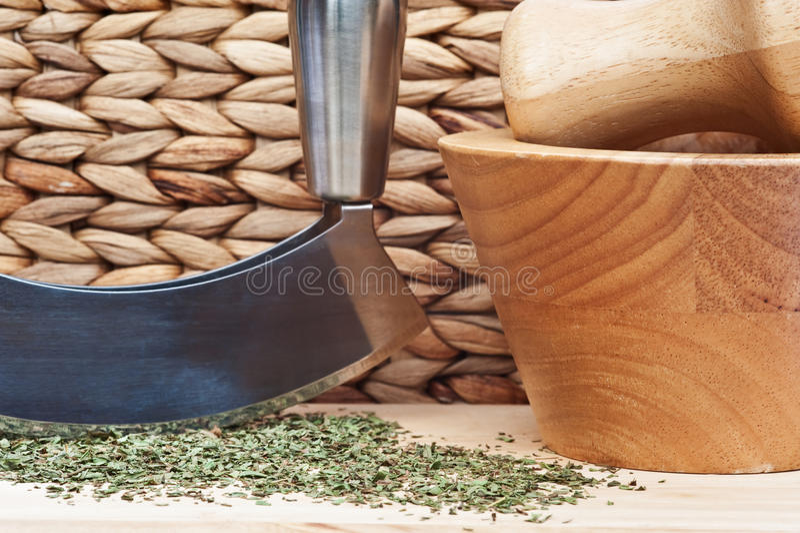 Menta tagliata con il selettore rotante dell'erba fotografia stock libera da diritti