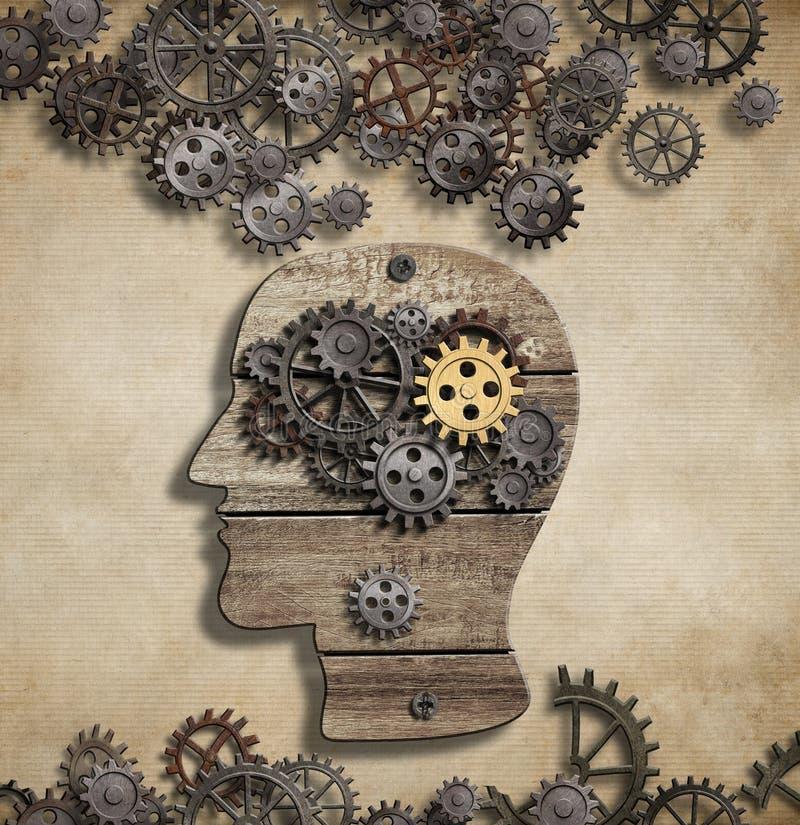 Mental aktivitet för hjärna och idébegrepp royaltyfri illustrationer