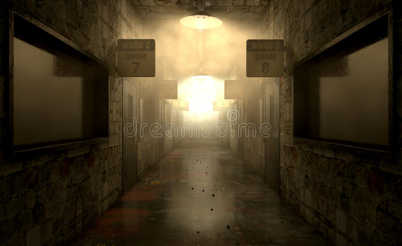 Mental Asylum Haunted stock images