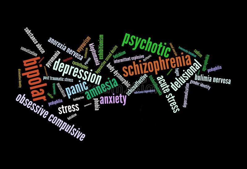 Mental Disorder royalty free illustration
