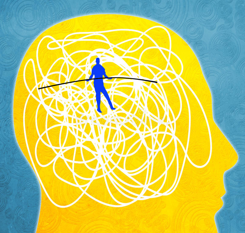 Mental disorder. Concept digital illustration royalty free illustration