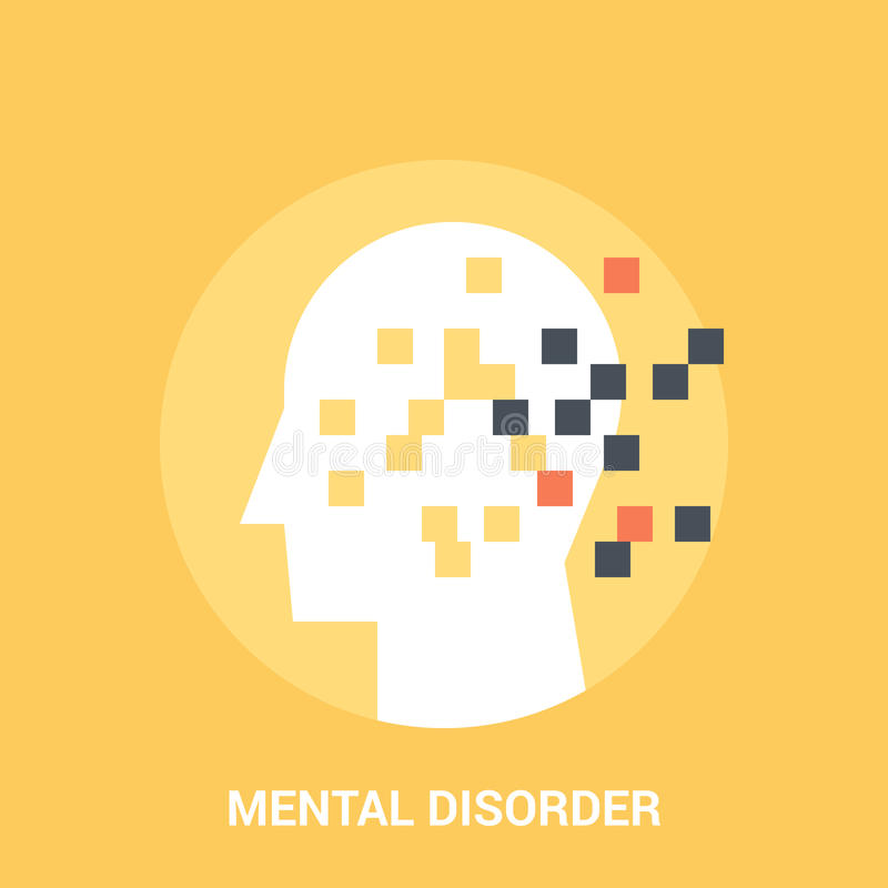 Mental disorder icon concept. Abstract vector illustration of mental disorder icon concept vector illustration