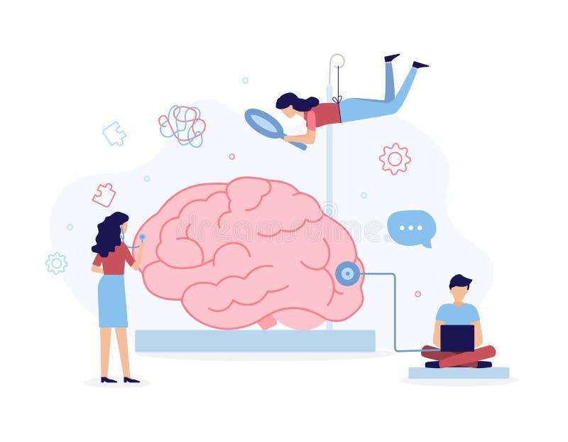 Mental hälsabegrepp vektor illustrationer