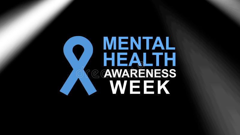 Mental Health Awareness poster and banner, highlighting awareness of mental health. Mental Health Awareness in May an annual campaign in the United States royalty free illustration